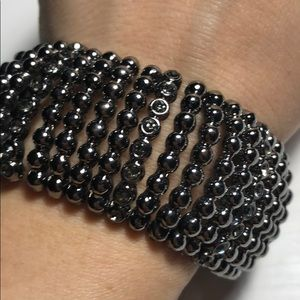Jewelry - Stretchy Black Beaded Statement Bracelet